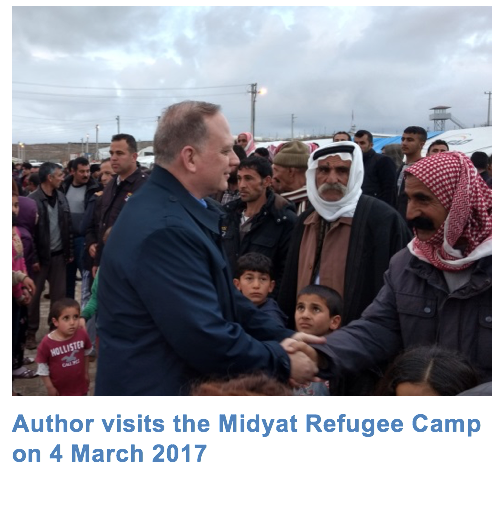 Author visits the Midyat Refugee Camp on March 4, 2017